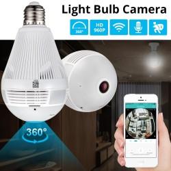 V žiarovke ukrytá WiFi bezpečnostná kamera s nočným videním