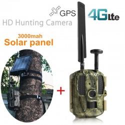 Profesionálna 4G GPS fotopasca so solárnym panelom s 3000 mAh batériou zasielaním MMS a emailov