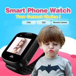 GPS tracker v hodinkách (sledovač výskytu a pohybu) pre deti